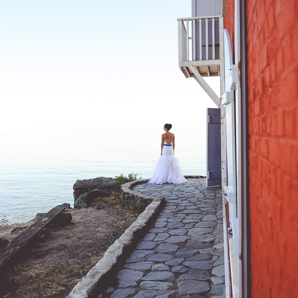 The bride at the Lighthouse-1